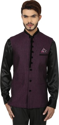DesiDapper Stylish Appeal Solid Men's Waistcoat