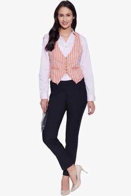 Aana Striped Women's Waistcoat