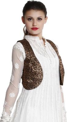 IndiDori Self Design Women's Waistcoat