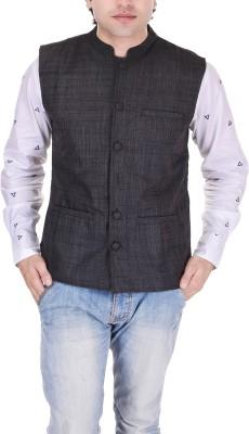 Black Mirror Self Design Men's Waistcoat