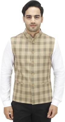 Bluethreads Checkered Men's Waistcoat