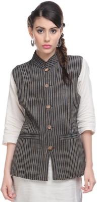 Lavennder Striped Women's Waistcoat