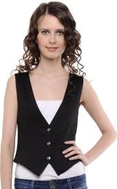 Cottinfab Solid Women's Waistcoat