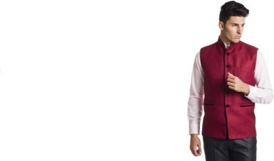 Zoldy Self Design Men's Waistcoat
