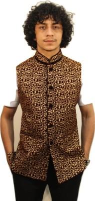 Latin Ferrante Self Design Men's Waistcoat