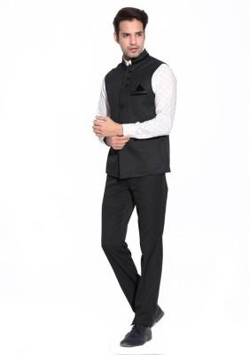 Hanu Self Design Men's Waistcoat