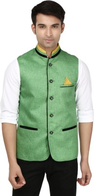 Platinum Studio Fine Charm Self Design Men's Waistcoat