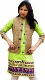 eMithilaHaat Printed Women's Waistcoat