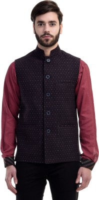 Just Henry Self Design Men's Waistcoat