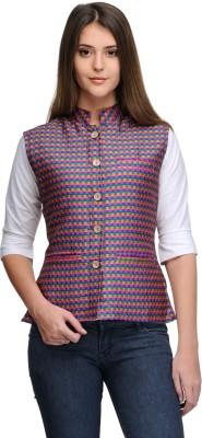 Sobre Estilo Checkered Women's Waistcoat