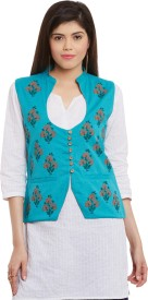 Bitterlime Self Design Women's Waistcoat