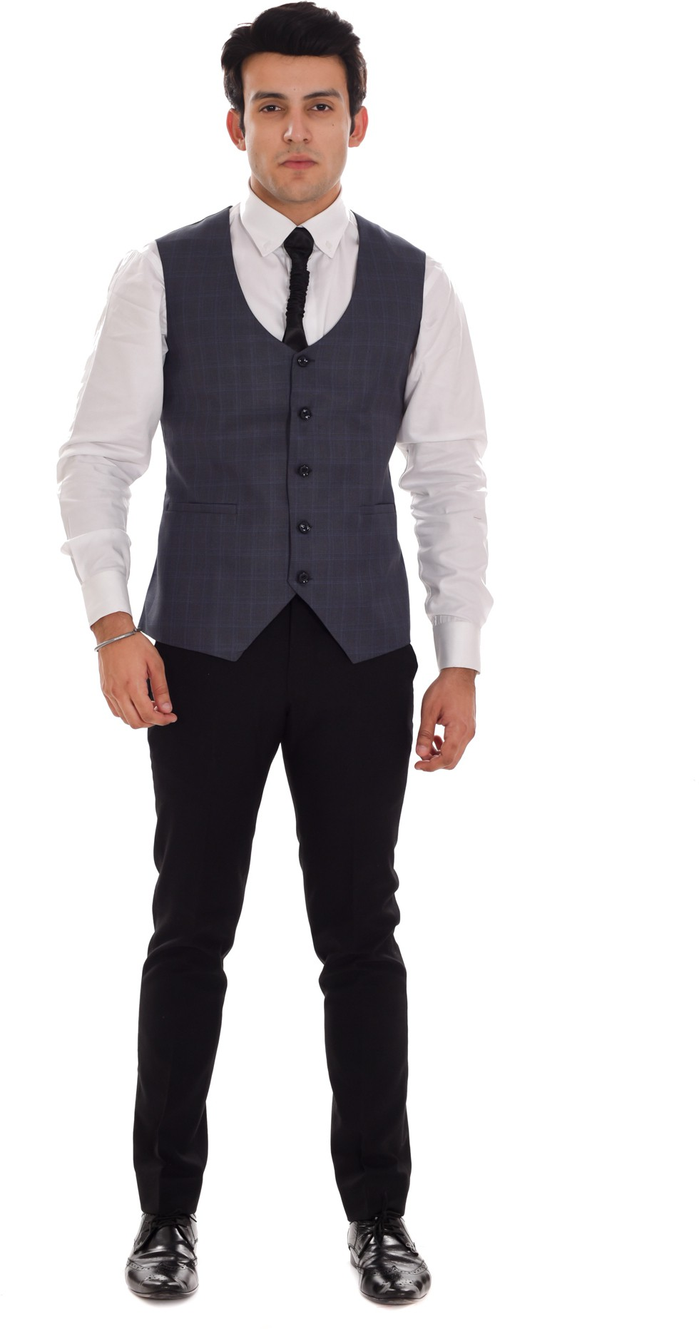 ellegent checkered mens waistcoat
