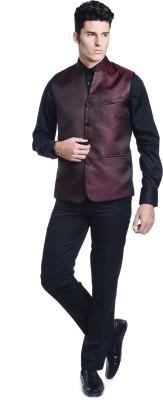 Luxurazi Royal Jacquard Self Design Men,s Waistcoat