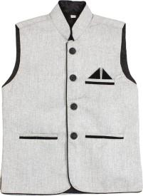 Havello Self Design Boys Waistcoat