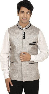 Platinum Studio Stylish Appeal Self Design Men's Waistcoat