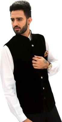Men In Class Self Design Men's Waistcoat