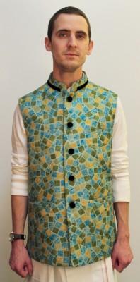 Latin Ferrante Geometric Print Men's Waistcoat