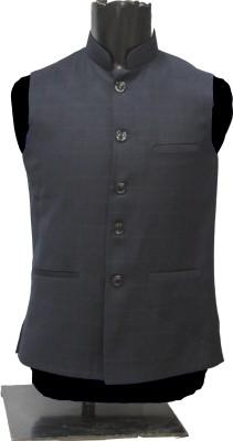 KM-NX Solid Men's Waistcoat