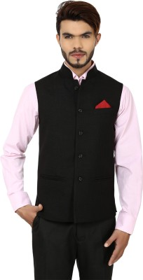 DesiDapper Style Charm Solid Men's Waistcoat