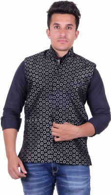 shivam Garments Printed Men's Waistcoat