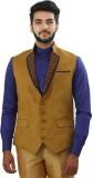 Ethnic Monarch Solid Men's Waistcoat