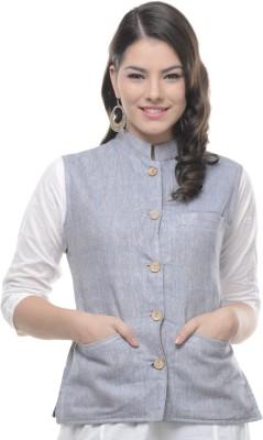 Sobre Estilo Solid Women's Waistcoat