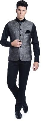 Luxurazi Self Design Men,s Waistcoat