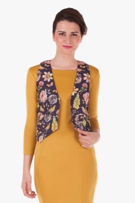 Bandbox Floral Print Women,s Waistcoat