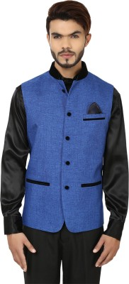 DesiDapper Stylish Delight Solid Men's Waistcoat