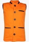 Cool Quotient Self Design Boys Waistcoat
