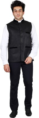 PSK Solid Mens Waistcoat