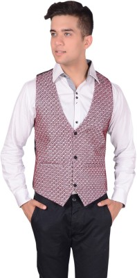 Rank Self Design Men's Waistcoat
