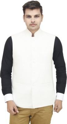 vividfab Solid Men's Waistcoat
