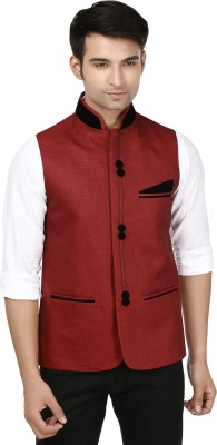 Platinum Studio Stylish Make Self Design Men's Waistcoat