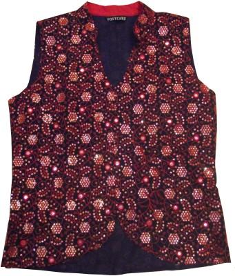 Postcard Jaal Patti Embroidered Women's Waistcoat