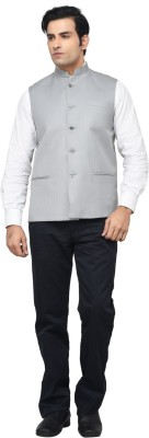 Regency Self Design Men's Waistcoat