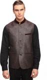 Luxurazi Self Design Men's Waistcoat