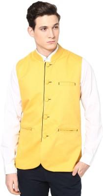 Haute Couture Nehru Jacket Solid Men's Waistcoat
