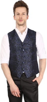 Platinum Studio Self Design Mens Waistcoat