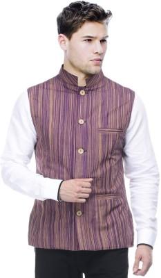 Sobre Estilo Striped Men's Waistcoat