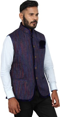 Karmaethnics Self Design Men's Waistcoat