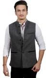 Fadjuice Self Design Men's Waistcoat