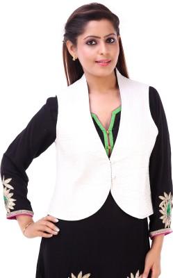 Msons Solid Women's Waistcoat