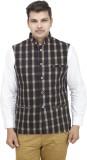 Vividfab Checkered Men's Waistcoat