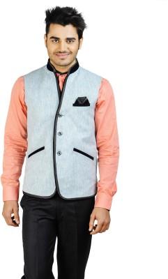 Bluethreads Self Design Men's Waistcoat