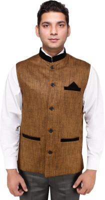 Rocksy Self Design Men's Waistcoat
