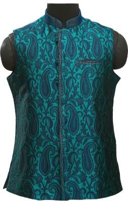 Manyavar Elegant Self Design Men's Waistcoat
