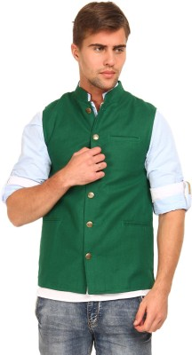 The Indian Garage Co. Solid Men's Waistcoat