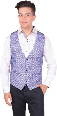 Rank Self Design Men's Waistcoat