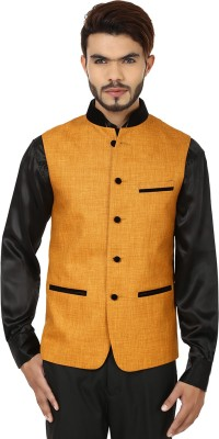 DesiDapper Stylish Grace Solid Men's Waistcoat